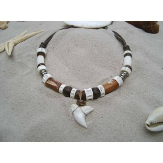 Surfer necklace with real Shark tooth (ca.1,5 cm)