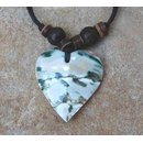 Necklace with pendant from shell in heart shape